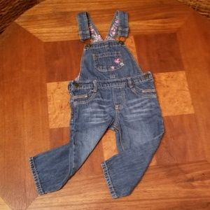 Baby Energetic New Oshkosh Girls Patch Rainbow Denim Jeans Overalls Vestbak Nwt 12m 18m 24m 4t